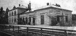 Der Flehinger Bahnhof in einer Aufnahme um 1912. Hier findet am 16.01.2020 unsere Generalversammlung statt.
