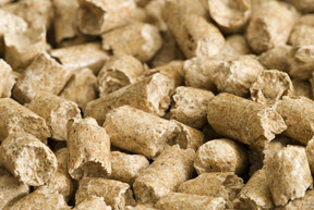 Holzpellets lose Ware