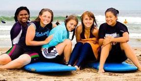 サーフィン 夏休み アメリカ サンディエゴ キャンプ