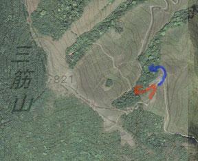 2日目コントロール10-11付近の航空写真