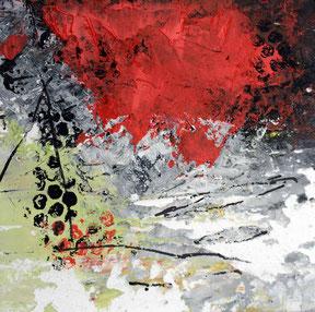 """SERIE 15/15 - """"Advantage life 03"""" - Acryl auf festem Papier hinter Passepartout / Gesamtformat 30 x 30 cm"""