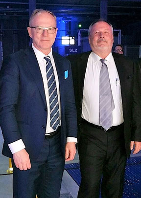 CEO Pekka Vauramo and Becon project manager Uwe Beck enjoyed the opening ceremony of the Cool Nordic Cargo Hub
