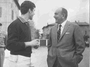 """Nella foto l'Ing. Giuseppe Ghillini 2° Presidente della Federazione assieme a """"Toro"""" Rinaldi"""