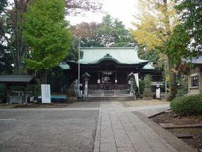 玉川神社の拝殿