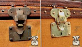 restauration serrure malle ancienne Louis Vuitton