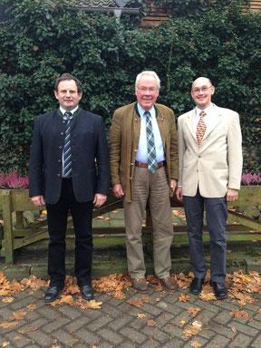 Der neue Vorstand des Fördervereins (v.l.n.r.): Peter Reu- ter, Vorsitzender Carl Lauenstein, Wendelin Schmücker
