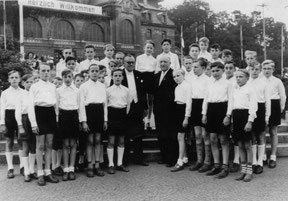 der Knabenchor ungter Josef Bönn Anfang der 50er Jahre