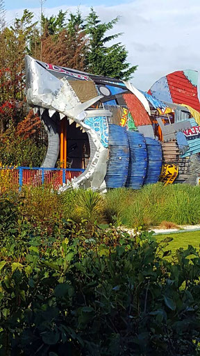 A great way to enter the Shark Hotel at Thorpe Park