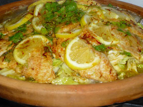 Fisch Tajine mit Safran Fäden