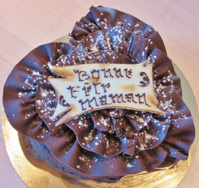 Recette gâteau chocolat feuille d'automne en forme de coeur