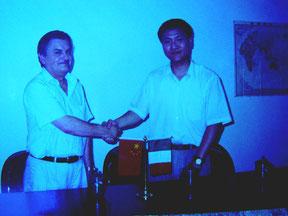 Beppe e Wulinfeng iniziano la loro collaborazione di lavoro