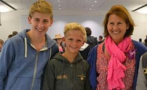 Lorenzo, Nico, Anne Walcher (Foto: privat)
