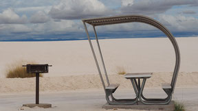 Picknickplaats in White Sands National Monument