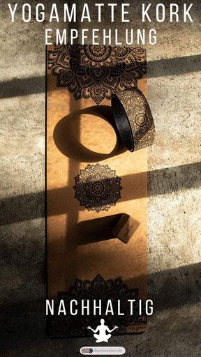 Nachhaltige Kork Yogamatte Mandala aus Bali - Yoga Design Lab Empfehlung