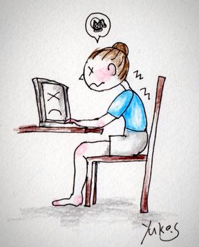 デスクワーク、疲れる座り方、Sakuranana-Yoga,Yuko.s