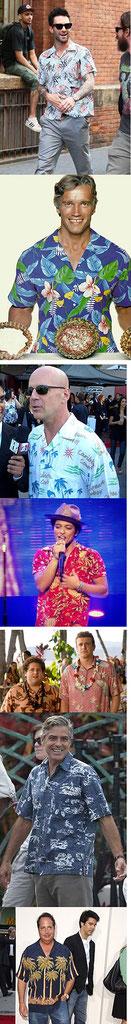 Hawaiihemd an Prominenten