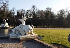 Schlosspark Schwetzingen, wasserspeiende Hirsche