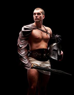 römischer Kämpfer mit stark entwickelter Muskulatur