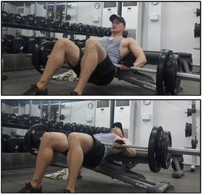 leg exercises hip thrust