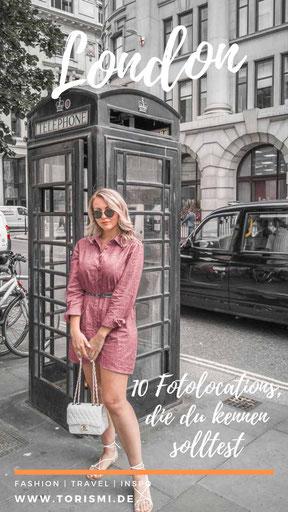 Im Blogartikel dreht sich alles um 10 Instagram Spots in London.