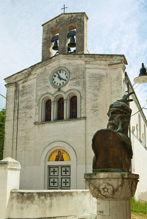 Villa Badessa, busto di Skanderbeg