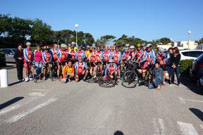 Les Cyclos sur le départ