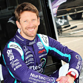 romain grosjean coureur formule 1 contact conference interview booking