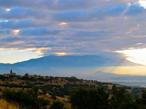 Mt. Olymp in Wolken eingehüllt