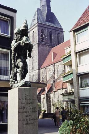 Das Huckup-Denkmal heute