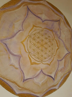 Wandmalerei -Mandala  Praxis  Rundum g´sund  der Leitner Rita