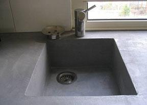 Revetement sol exterieur b ton cir sol salle de bain beton cire plan de trav - Beton cire sur carrelage plan de travail ...