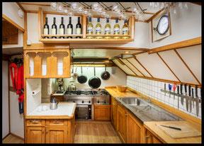 Küche Segelschiff Pegasus segeln Ostsee