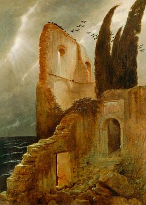 "Arnold Böcklin, ""Rovine sul mare"" (1881)"