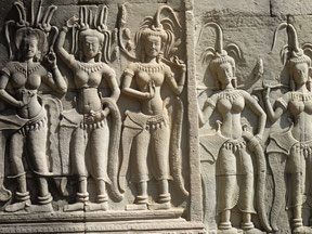 Apsara Relief Angkor Wat, Seam Reap, Cambodia.  www.sihanoukvilleguideservice.com