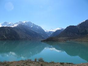 Der Iskander Kul See liegt auf 2200m