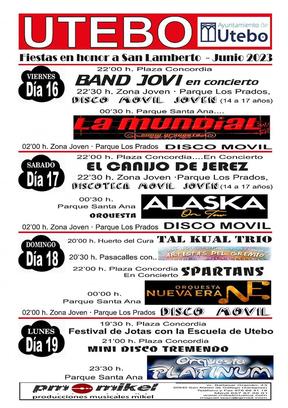 Cartel y programa de las Fiestas de San Lamberto y San Juan 2015 en Utebo