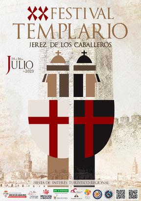 Cartel y programa del Festival Templario de Jerez de los Caballeros