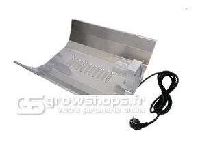 réflecteur en aluminium permettant d'augmenter l'intensité lumineuse dans la surface à éclairer.