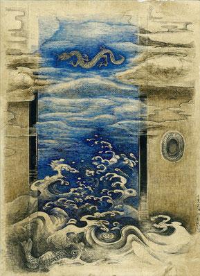 「千重波」 F4号 ペン画