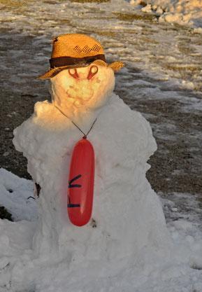 26. Januar 2015 - Bald schmilzt er hin, der Mann aus Schnee