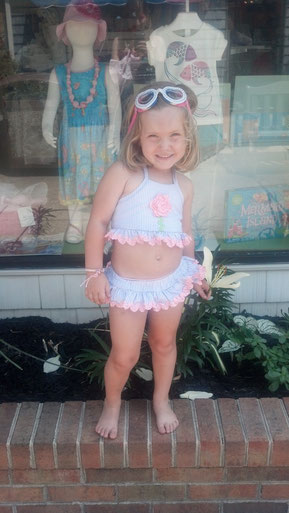 swim suit, bathing suit, ruffles, flowers, girly, toddler