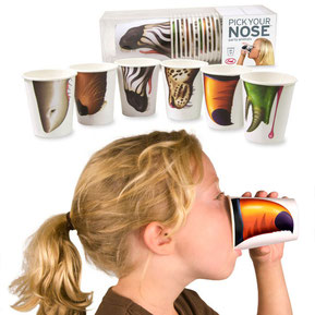 pick your nose cups, paper cups, party cups, kids cups, rehoboth, home, housewares, kids, kitchen, party supplies