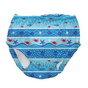 swim diaper, built in swim diaper, UPF 50, sun protectiton, swim gear, baby, bathing suit, baby beach diaper, fish print, beach print, rehoboth, baby bathing suits, baby swim wear, washable, kids