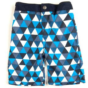 blue, geometric, older, boy, boys, swim trunks, bathing suit, board shorts, UPF 50, rehoboth, rehobeth, swim, kids