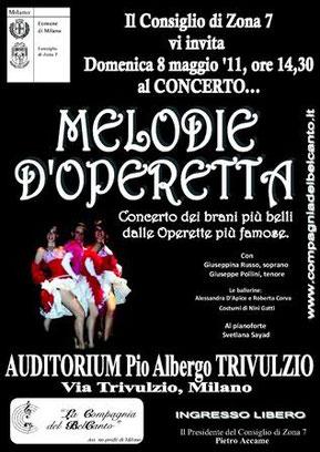 MELODIE D'OPERETTA - Milano , 8/5/11