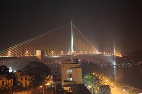 ライトアップされたバイチャイ橋