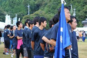 開会式に並んだ第一コンサルタンツの選手団