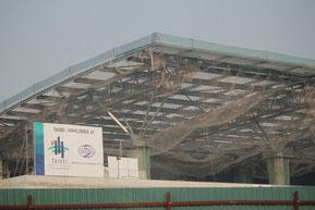 ハノイ国際空港第二ターミナルの建設工事