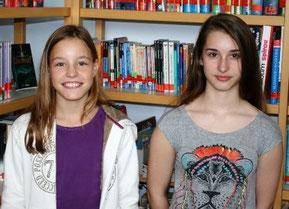 Schülersprecherinnen 2014/2015:   Jasmin Kaiser (6b) und Jessica Starrett (9c)