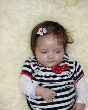 Neugeborene Baby Mädchen Haarspange Blume Schleife Steinchen Applikation Haarklammer Spange für feines Babyshaar